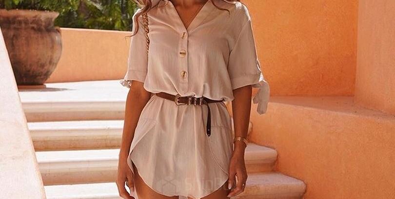 платье-рубашка правильно носить