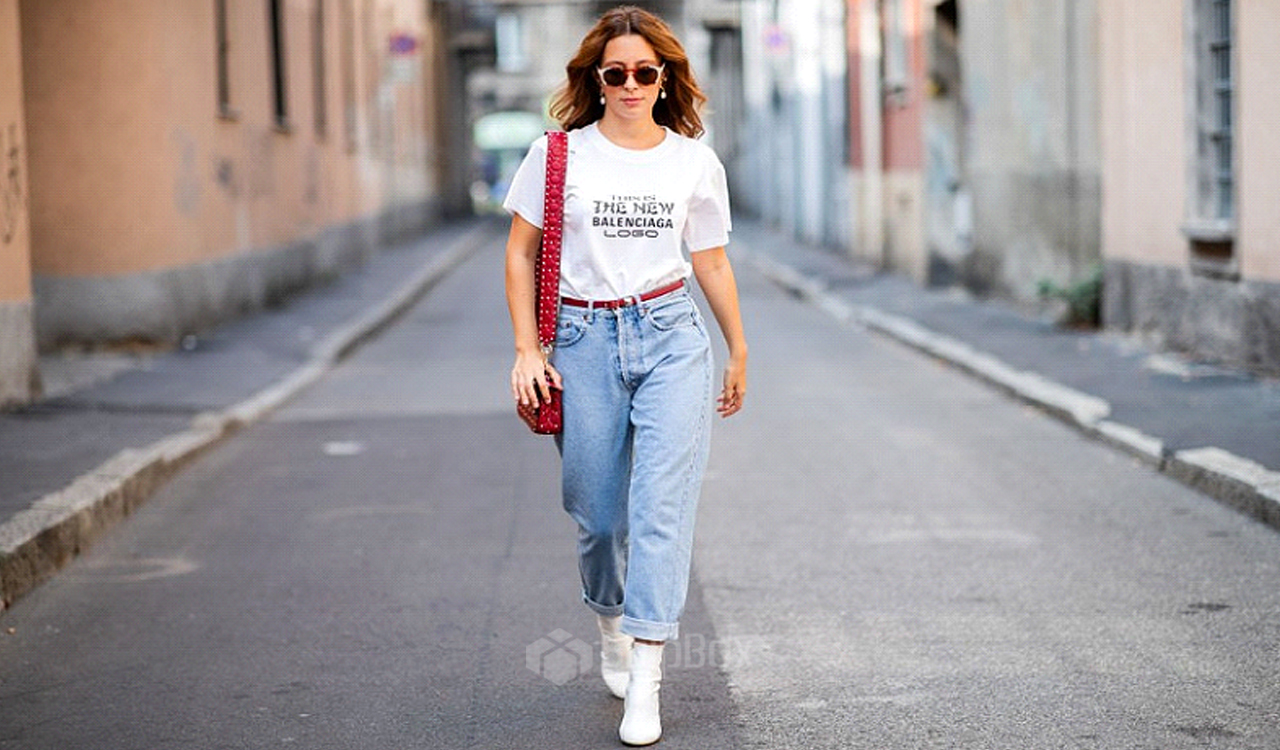 джинсы mom-fit