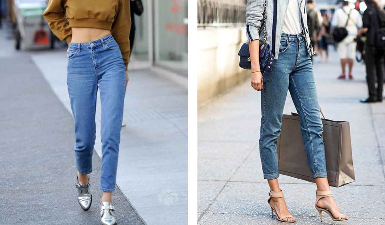 обувь под джинсы мом