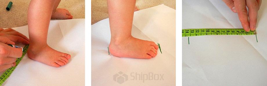 правильно измерить длину стопы ребенка